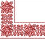 Красный угол для вышитой скатерти (узор)