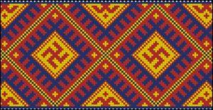 Башкирский орнамент в мозаике