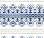 Ленточный орнамент синий