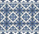 Орнамент в голубых тонах