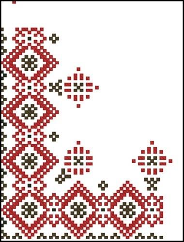 Орнамент уголок для вышивки