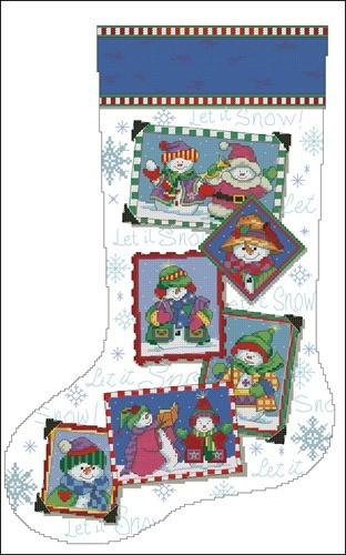 Snowmen snapshots stocking