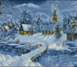 Зимний рождественский пейзаж
