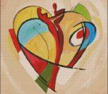 Абстракция, любовь, сердечко