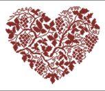 Однотонное красное сердечко