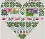 Patchwork heart (spring)