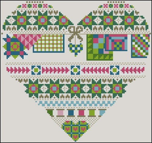Patchwork heart (spring)