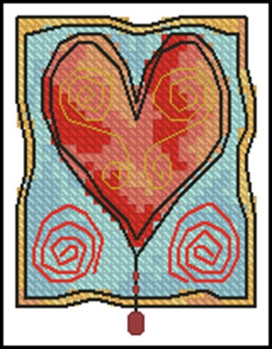 Heart with beads - free design