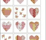 Несколько вариантов простеньких сердечек для вышивки