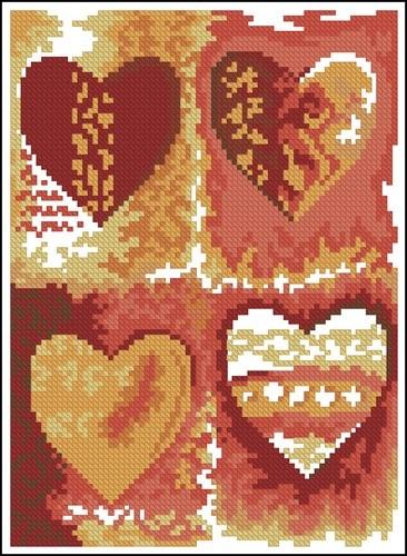 Multi Colour Hearts
