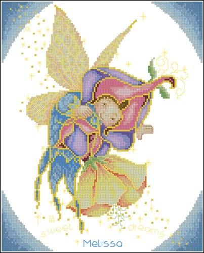 Феечка на цветке