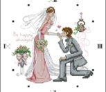 Часы со свадебным мотивом