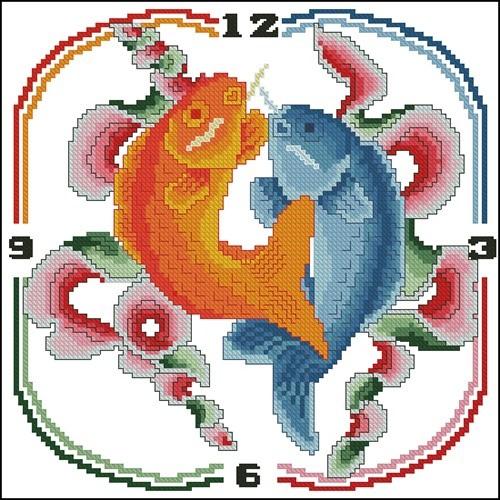 """Часы """"Рыбки"""""""