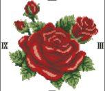 Elegant Roses Clock