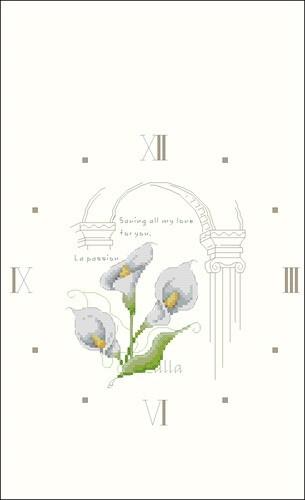 Цветочные часы с каллами