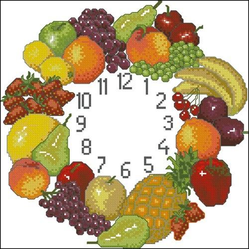 Часы с фруктами