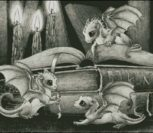 3 Baby Dragons (монохром)