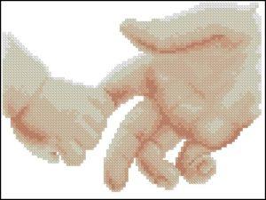 Рука ребенка и взрослого