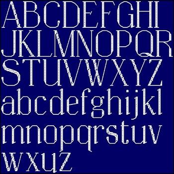 бесплатные схемы вышивки алфавита и цифр