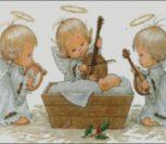 Ангелочки со скрипкой