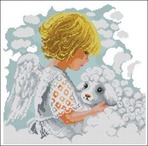 Ангелок с ягненком