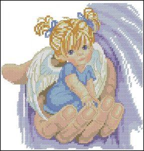 Ангелочек на ладошки