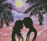 Влюблённая пара (силуэты)