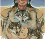 Three Grey Wolves