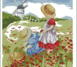Девочки на маковом поле