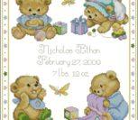 Baby Bears Birth Sampler