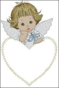 Ангелочек для детской метрики
