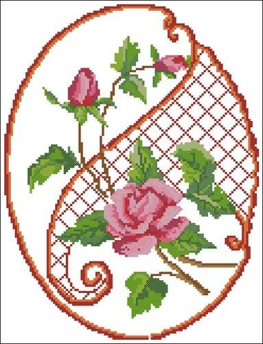 Розы в овале