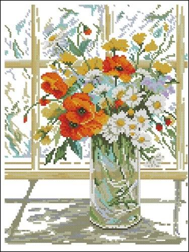 Flowers in Windowpane