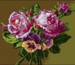 Розы и анютины глазки