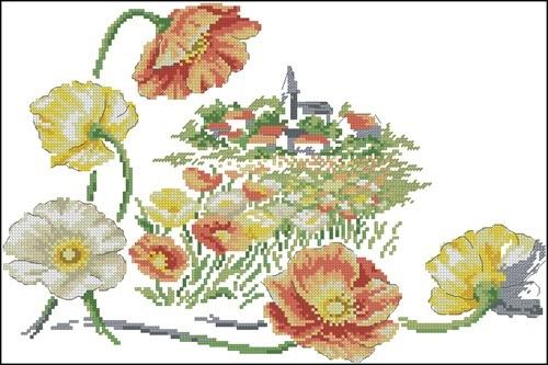 Le petit village sous les fleurs