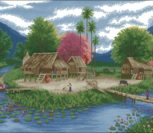Островок, летний пейзаж
