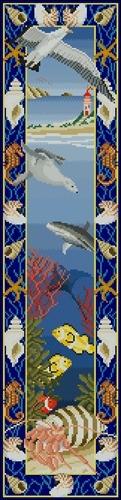 Панель с морскими рыбками
