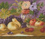 Натюрморт ягоды и цветы фрукты