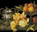 Still life of oranges and lemons