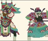 Chinese Papercuts Warriors