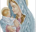 Мадонна с младенцем в голубом