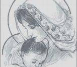 Мадонна c младенцем (в серых тонах)