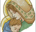 Мадонна с младенцем (в цвете)