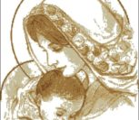 Мадонна c младенцем (в бежевых тонах)