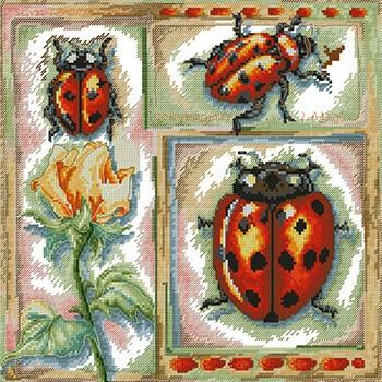 бесплатные схемы вышивки насекомых