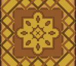 Простая подушка с двухцветным орнаментом