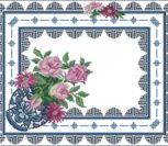 Подушка цветочная с орнаментом