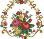 Подушка орнамент с цветами