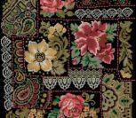 Изящная старинная вышивка подушки