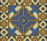 Подушка крестом геометрический узор